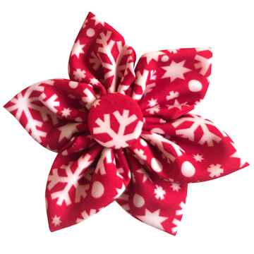 Picture of XMAS CANINE PINWHEEL NECK WEAR Snowflake  - Small