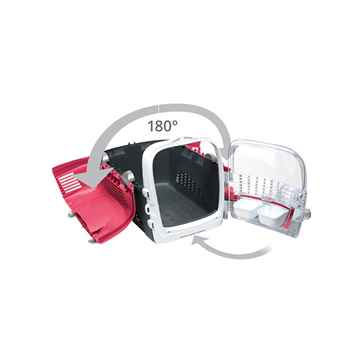 Picture of PET CARRIER CATIT CABRIO 20inL x 13inW x 13.75in - Cherry Red