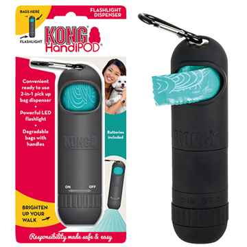 Picture of PET WASTE KONG HANDIPOD DISPENSER with a Flashlight