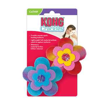 Picture of TOY CAT KONG CRACKLES Bloomz - 2/pk