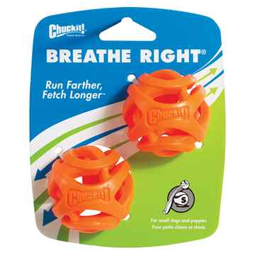 Picture of TOY DOG CHUCKIT Breath Right Fetch Ball Small - 2/pk