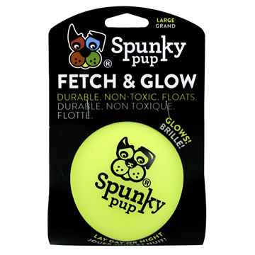 Picture of TOY DOG SPUNKY PUP Fetch & Glow Ball Large - 1/pk