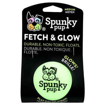 Picture of TOY DOG SPUNKY PUP Fetch & Glow Ball Medium - 1/pk