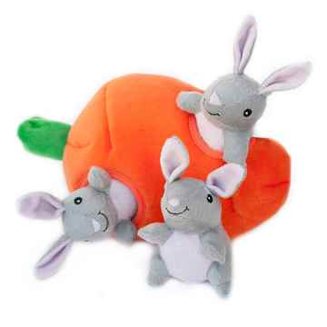 Picture of TOY DOG ZIPPYPAWS BURROWS - Bunny'n Carrot