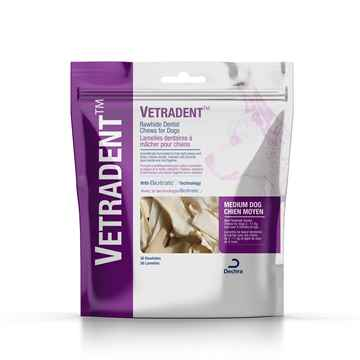 Picture of VETRADENT RAWHIDE DENTAL CHEWS MEDIUM - 30s