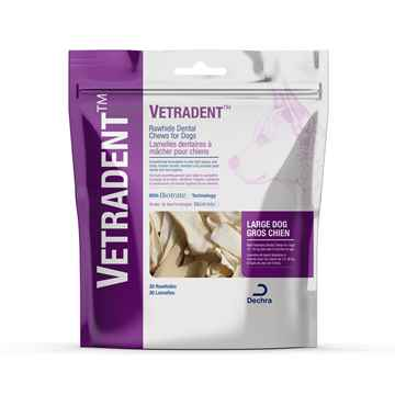 Picture of VETRADENT RAWHIDE DENTAL CHEWS LARGE - 30s