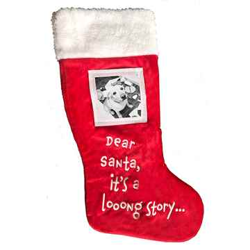 """Picture of XMAS HOLIDAY PICTURE FRAME STOCKING """"Dear Santa"""" - 18in"""