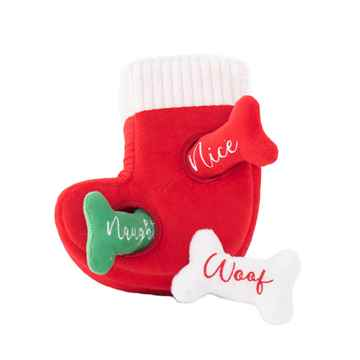 Picture of XMAS HOLIDAY ZIPPY PAWS Holiday Burrows - Naughty or Nice Stocking (nr)