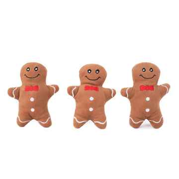 Picture of XMAS HOLIDAY ZIPPY PAWS Holiday Miniz Gingerbread Men - 3/pk (nr)