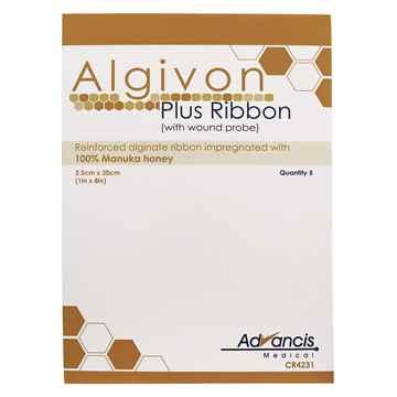 Picture of ALGIVON PLUS RIBBON DRESSING w/WOUND PROBE 2.5cm x 20cm - 5's