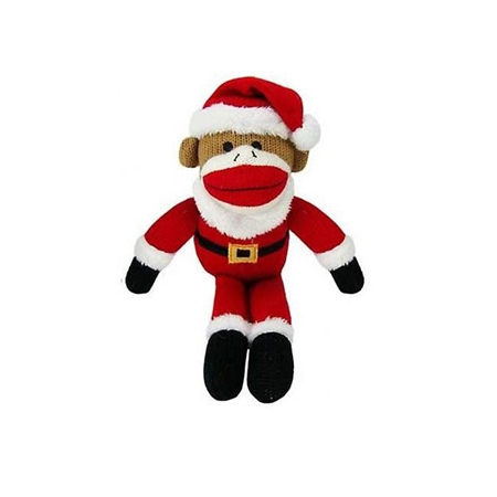 Picture of XMAS HOLIDAY HUXLEY Sock Monkey Santa - Large (nr)