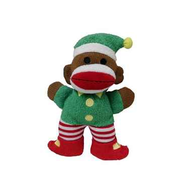 Picture of XMAS HOLIDAY HUXLEY Sock Monkey Elf - Small (nr)