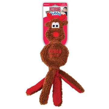 Picture of XMAS HOLIDAY KONG Wubba Flatz Reindeer - Large (nr)