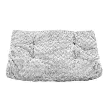 Picture of PET MAT UNLEASHED CHILL GUSSET PLUSH Silver - 19in x 12in
