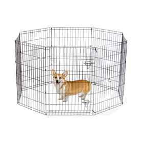 Picture of EXERCISE PEN Simply Essential BLACK Large - 8 panels 24inW x 36inH