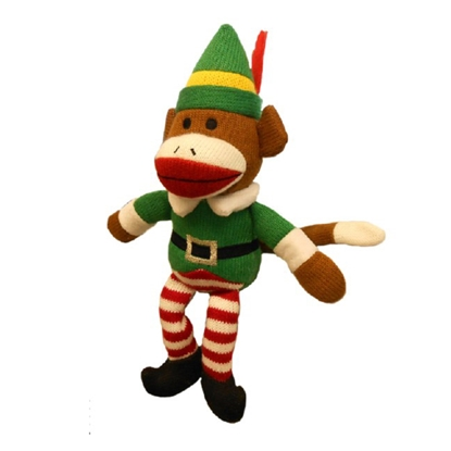 Picture of XMAS HOLIDAY HUXLEY Sock Monkey Elf - Large (nr)