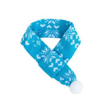 Picture of XMAS HOLIDAY ZIPPYPAWS SCARF Blue with Snowflakes - Small(nr)