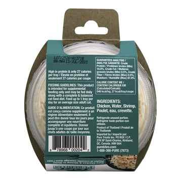 Picture of FELINE PUREBITES CHICKEN BREAST & WILD SHRIMP in WATER - 12 x 50g