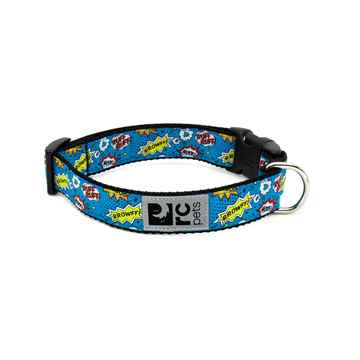 Picture of COLLAR RC CLIP Adjustable Comic Sounds Blue - 3/4in x 9-13in