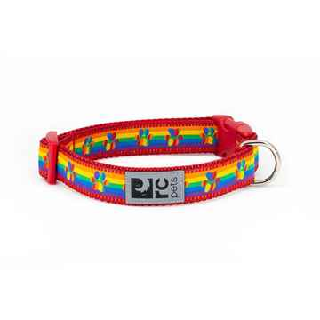 Picture of COLLAR RC CLIP Adjustable Rainbow Paws - 3/4in x 9-13in