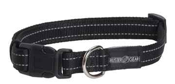 Picture of COLLAR BUSTER Nylon Reflective Adjustable Black - 1cm x 11-16in