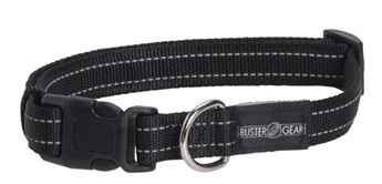 Picture of COLLAR BUSTER Nylon Reflective Adjustable Black - 2cm x 16-22in