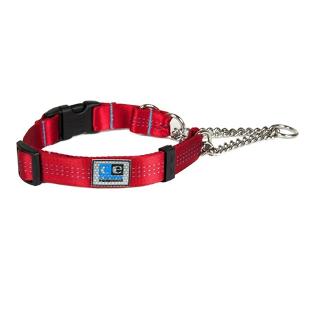 Picture of COLLAR CE QUICK RELEASE MARTINGALE Red - 1in x 16-22in