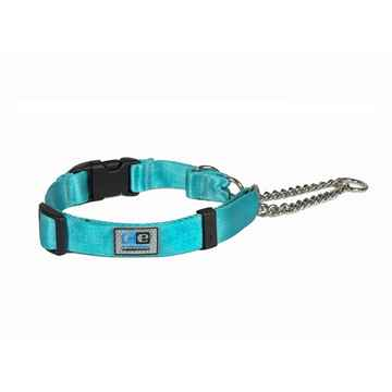 Picture of COLLAR CE QUICK RELEASE MARTINGALE Aqua - 1in x 14-18in