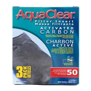 Picture of AQUACLEAR 50/200 Activated Carbon Filter insert (A1384) -3 pieces