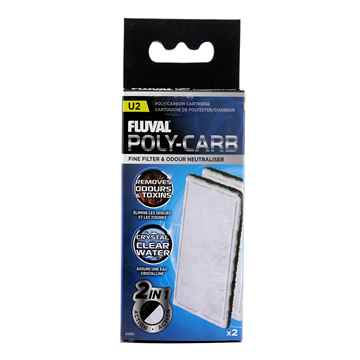 Picture of FLUVAL U2 POLY/CARBON CARTRIDGE (A490) - 2 piece