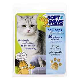 Picture of SOFT PAWS TAKE HOME KIT FELINE LARGE - Gold Sparkle