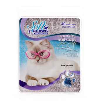 Picture of SOFT CLAWS TAKE HOME KIT FELINE MEDIUM - Blue Sparkle