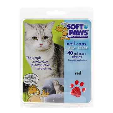 Picture of SOFT PAWS TAKE HOME KIT FELINE MEDIUM - Red