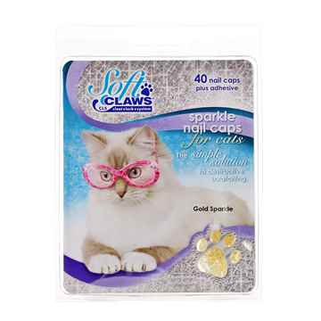 Picture of SOFT CLAWS TAKE HOME KIT FELINE MEDIUM - Gold Sparkle