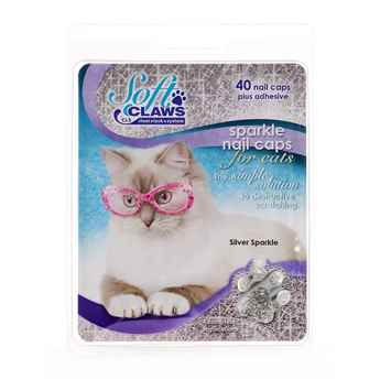 Picture of SOFT CLAWS TAKE HOME KIT FELINE MEDIUM - Silver Sparkle