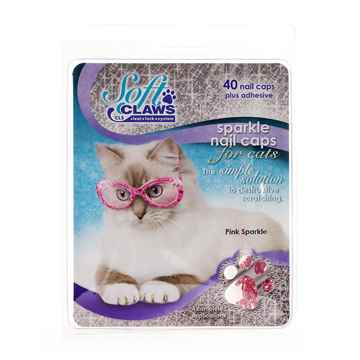 Picture of SOFT CLAWS TAKE HOME KIT FELINE MEDIUM - Pink Sparkle