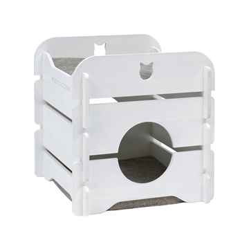 Picture of CAT FURNITURE VESPER COTTAGE 2 LEVEL HIDEOUT - White