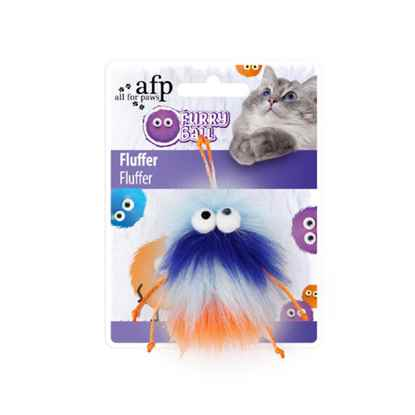 Picture of TOY CAT AFP FURRY BALL FLUFFER - Orange