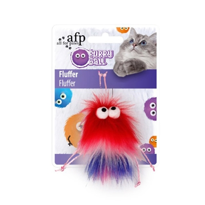 Picture of TOY CAT AFP FURRY BALL FLUFFER - Red(d)
