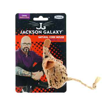 Picture of TOY CAT JACKSON GALAXY NATURAL CORK MOUSE with SOUND