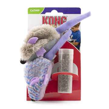 Picture of TOY CAT Kong Catnip Mice Purple Frosty&Grey-2/pk