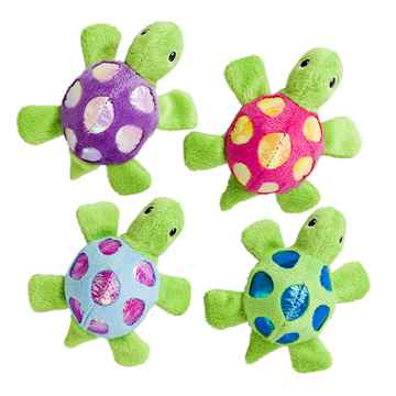 Picture of TOY CAT SPOT Shimmer Glimmer Turtle with Catnip Assorted