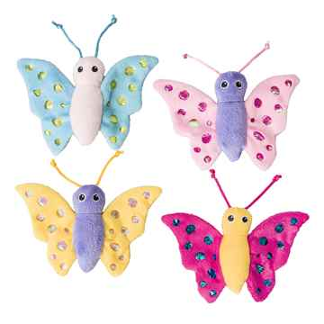 Picture of TOY CAT SPOT Shimmer Glimmer Butterfly with Catnip Assorted