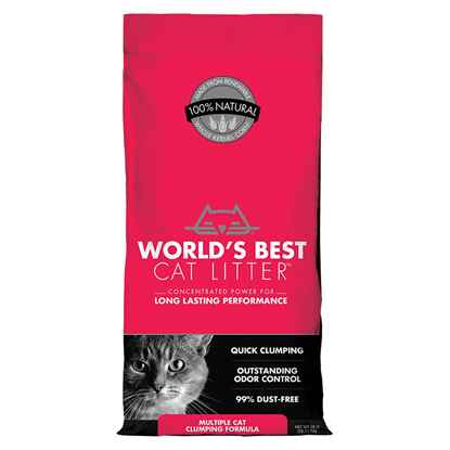 Picture of CAT LITTER WORLDS BEST(KERNEL CORN) Multiple Cat Clumping - 28lbs