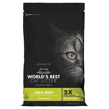 Picture of CAT LITTER WORLDS BEST(KERNEL CORN) Advanced Zero Mess Pine Blend 12lb