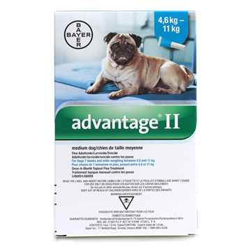 Picture of ADVANTAGE II TEAL 4 x 1ml DOG 4.6kg - 11kg - 4's (su10)