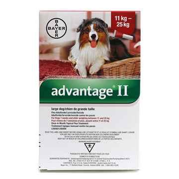 Picture of ADVANTAGE II RED 4 x 2.5ml DOG 11kg - 25kg - 4's (su10)
