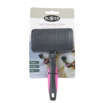 Picture of BUSTER SLICKER BRUSH Self Cleaning hard pins - Medium
