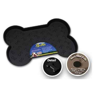 Picture of BELLA SPILL PROOF DOG BONE SHAPED MAT Large- Black