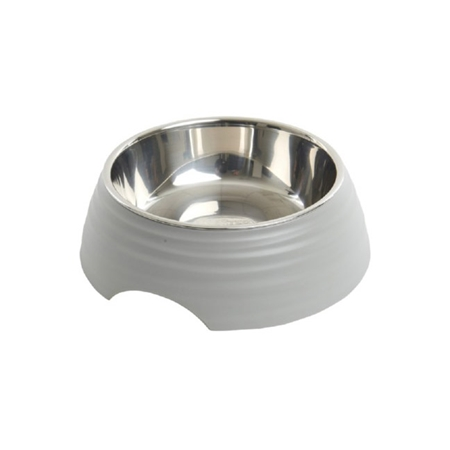 Picture of BOWL BUSTER 2-IN-1 MELAMINE Frosted Ripple Matte Grey - 160ml